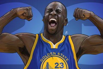 Draymond Green Flexing Illustration