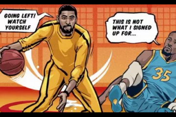 Kyrie Irving Game of Death Comic Illustration