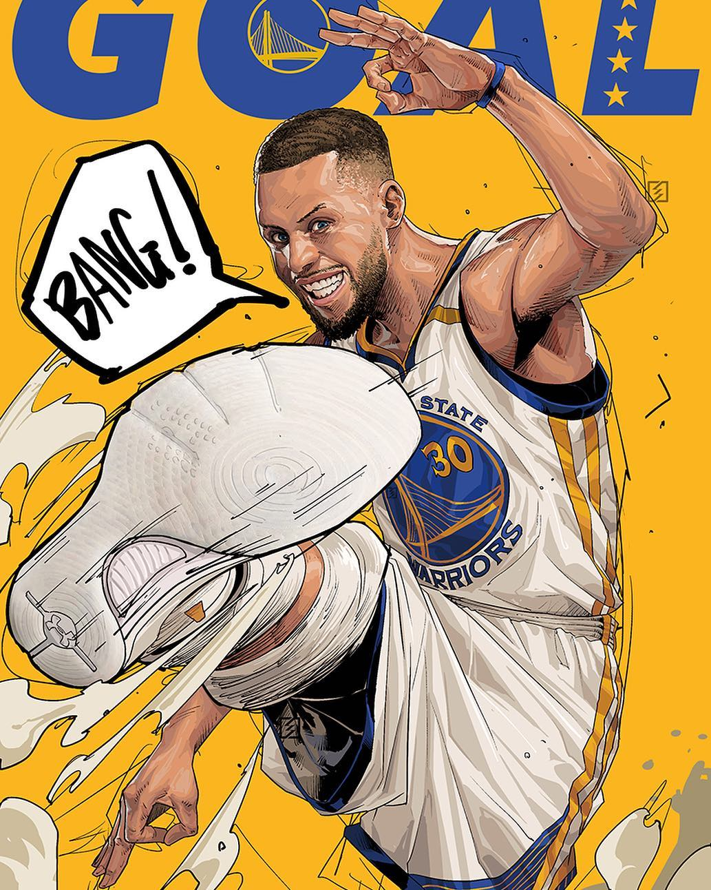 dfd487ec8a9c Stephen Curry BANG Illustration. Hooped Up ...